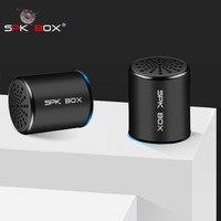 SPK BOX 2 Packs TWS System Wireless Bluetooth Speakers Metal Portable Mini Stereo Sound Loudspeaker MP3 Music Play Microphone 3W
