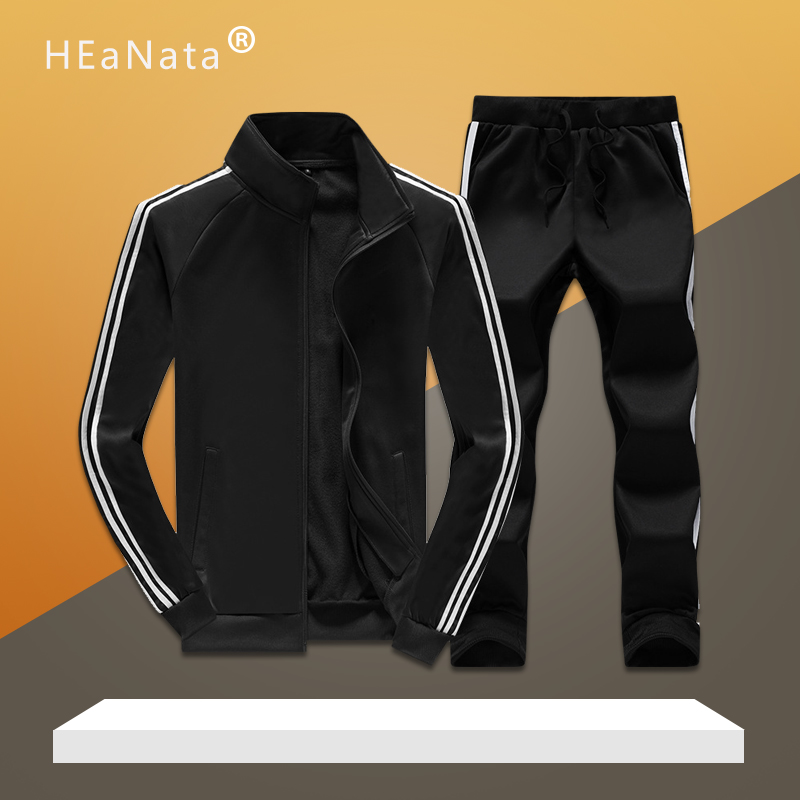 New Men's Jogging Sets Loose Tracksuits Mens Summer Autumn Fitness Training Sporting Suits Two Pieces Jacket With Pants