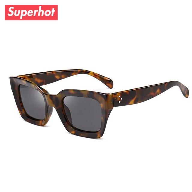 cd7f8a1fbf53 Superhot Eyewear - Fashion Square Sunglasses Women Brand Designer Sun  glasses Retro Vintage Tortoise Shades UV400