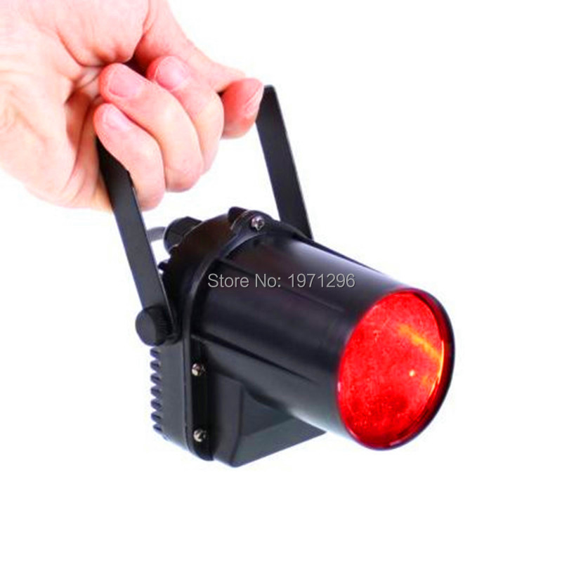 ФОТО 10W RGBW Color-Changing LED Pinspot DMX512 Narrow-Beam Pinspot Stage Lighting Effect for DJs, KTV, Discos and Parties
