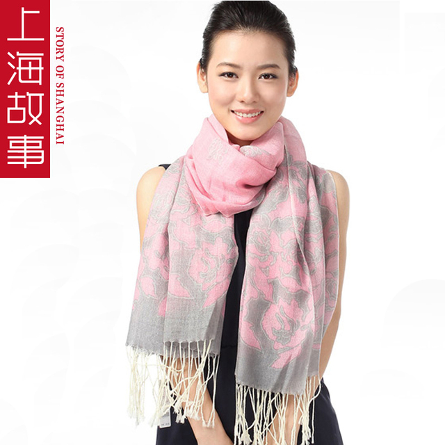 Blooping 2013 spring rich thermal pure wool scarf cape women's