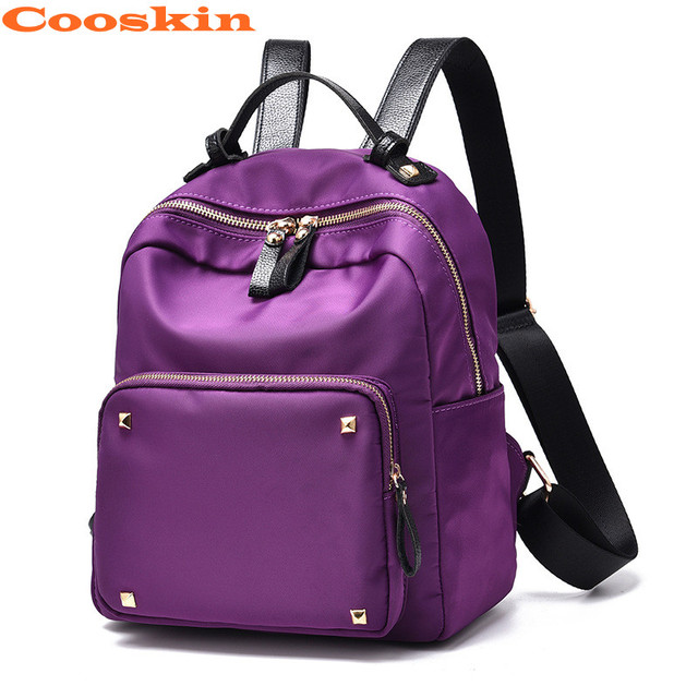 881aeb4ea197 Purple Black Backpack 2017 New Style Fashion Oxford Backpacks For Teenage  Girls Travel Backpack Schoolbag Backpack