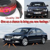 Car Bumper Lip Deflector Lips For Skoda Superb octavia Fabia Rapid Yeti / Front Spoiler Skirt Car Tuning View Body Kit Strip