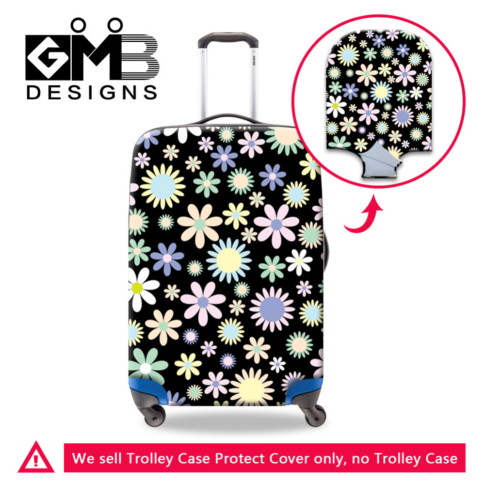 Flower Print Luggage Protective Covers Thick Elastic Stretch Suitcase Cover For 18-30 Inch Trunk Case Fashion Travel Accessories