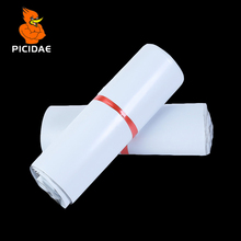 White color self-adhesive poly mailer/ white mailing post envelope/ Plastic Express Courier bags