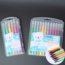 12colors/set color pen Water based pigments soft nib color clear Advanced drawing special color marker pen