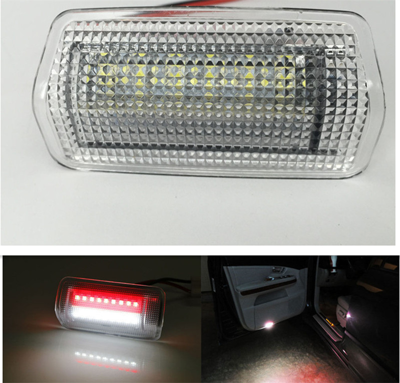 Free shipping,2x Error Free Super Bright Dual-Color 18-SMD LED Door Lights For Lexus IS ES RX GX LX Toyota 1pcs canbus error free t15 car led backup reverse lights lamps for lexus ct es gs gx is is f ls lx sc rx is250 rx300 is350 is300