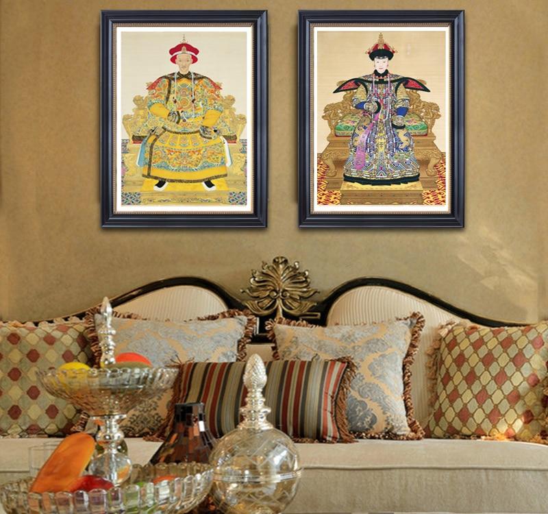 نقاشی بوم نقاشی دیواری دکوراسیون تزئین هنر چاپ خانه پوستر هنر چینی امپراطور نقاشی سنتی چینی امپراطور Giuseppe Castiglione
