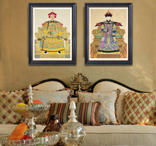 Canvas painting Chinese style traditional emperor and empress Giuseppe Castiglione art Wall Decorative home decor