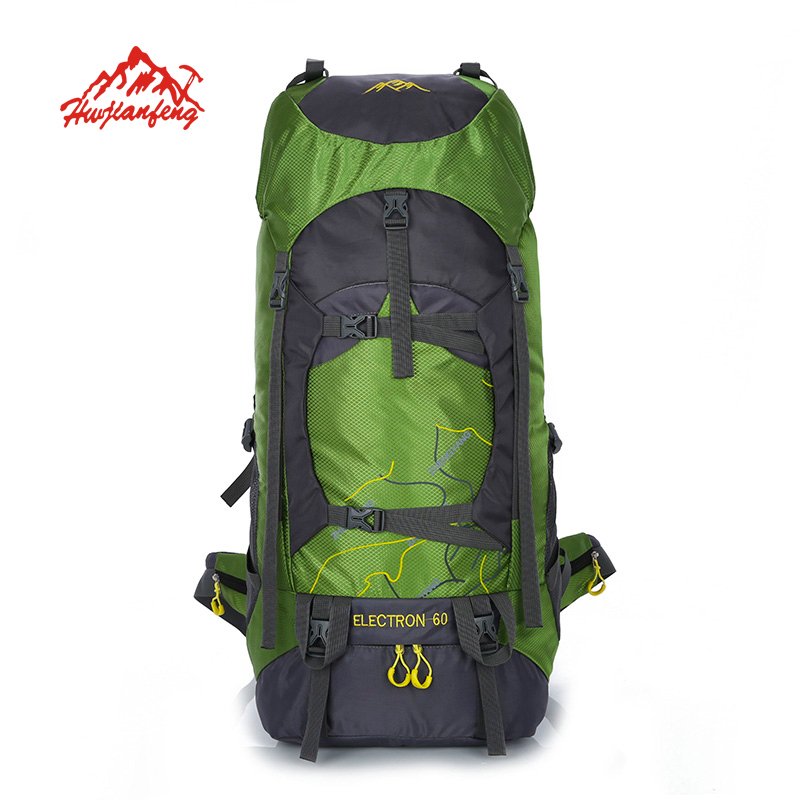 HUWAIJIANFENG Outdoor bags camping Backpack Mountain climbing backpacks Travel military backpack sports rucksack waterproof bag blog flashlight outdoor 5led pocket strong waterproof 8 hours to illuminate mountain climbing camping p004