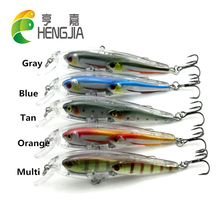 HENGJIA 5pcs plastic minnow group fishing lures wobble bass fishing baits 10.5cm 11g 6#japan hooks isca de pesca fishing tackles