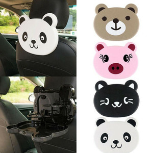 Image 4 - Car Back Seat Multi function Water Cup Plastic Holder White Creative Car Storage Cup Rack