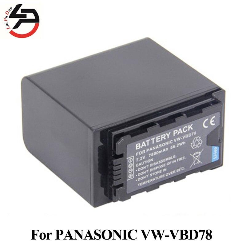 7800 mah Tout Nouveau Remplacement Batterie Pour Appareil Photo PANASONIC VW-VBD78 VW-VBD29 VW-VBD58 AJ-PX298 HC-MDH2 HC-X1000 AG-AC8EJ