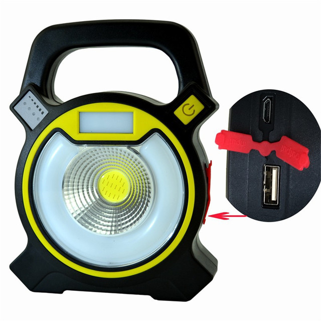 10pcslot usb 10w cob led work lights with round led light strobe lamp
