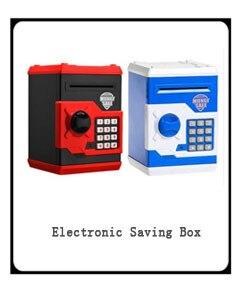 Tirelire électronique ATM mot de passe tirelire pièces de monnaie boîte d'économie ATM banque Caja Fuerte sécréa Oculta Atm banque jouet en plastique