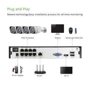 Image 4 - スマート 4ch 5MP POE IP カメラシステムキット H.265 セキュリティと 8ch POE Nvr 屋外防水 CCTV カム警報ビデオ p2P グラム。職人