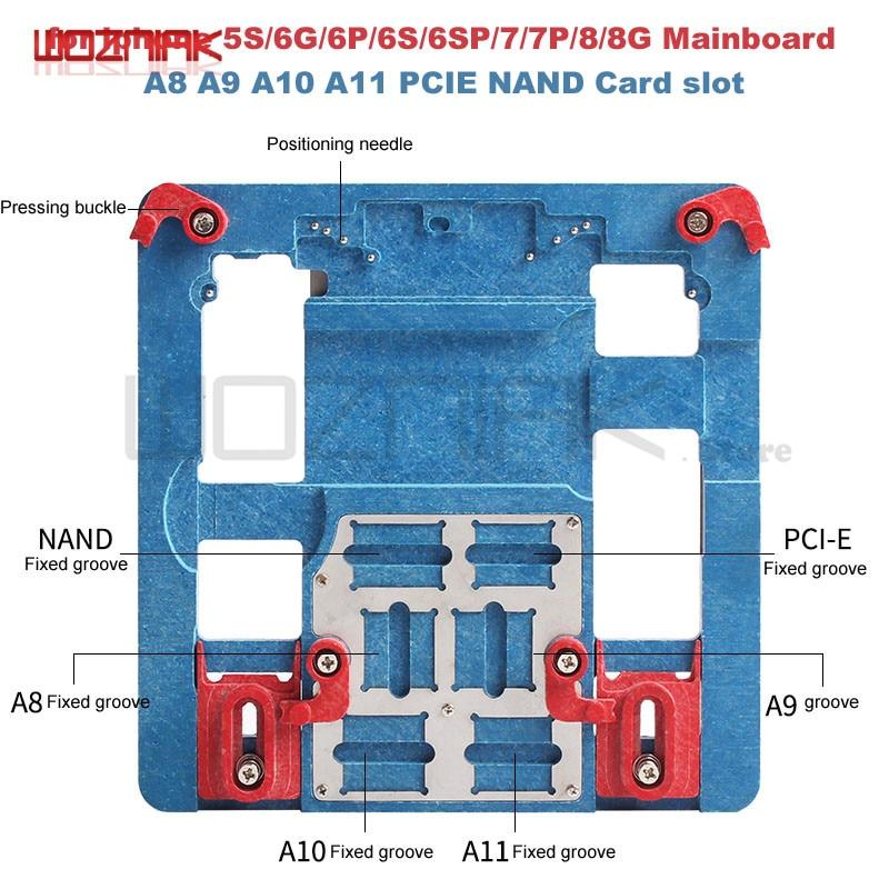 Wozniak for iphone 5S 6G 6P 6S 6SP 7 7P 8g 8p Repair Mainboard fixture A8 A9 A10 A11 Fixed fixture for chip Remove glue slot планшет aigo m908 8g m90 1 6g 9 7 4 0