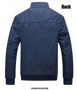 Image 2 - Sonbahar kış erkek ceket rüzgarlık erkek palto rahat düz renk ceket Slim Fit uzun kollu erkek gömlek rüzgar geçirmez ceket ceket boyutu 6XL 7XL 8XL