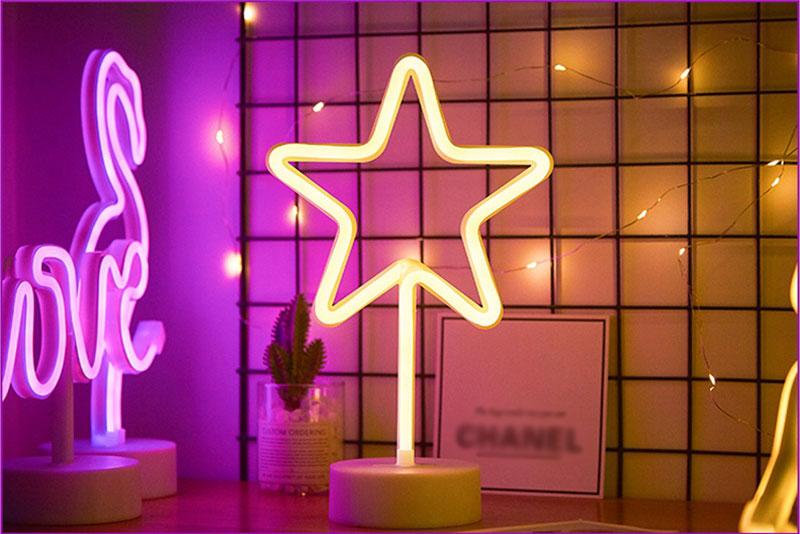 LED Neon Sign Light Star Moon Lightning Unicorn Novelty USB AA Battery Power Lamp Home Decorate Luminary Bedside Lighting (20)