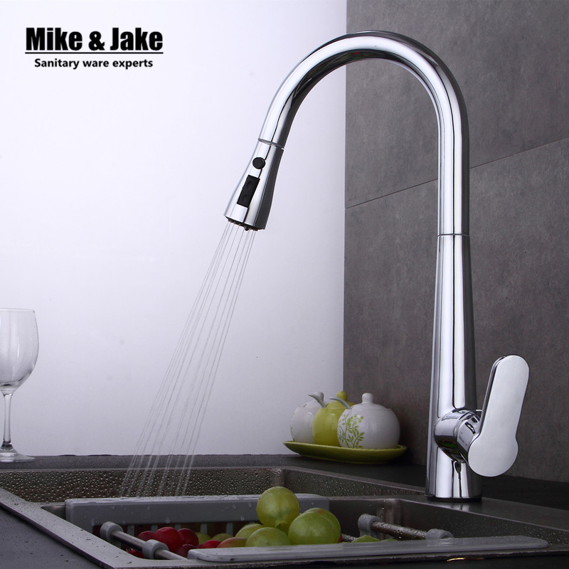 New Arrival Pull out Kitchen faucet 3 function Sink mixer Faucet  Pull Out Dual Sprayer Nozzle Hot Cold Mixer Water Taps MJ408 new pull out sprayer kitchen faucet swivel spout vessel sink mixer tap single handle hole hot and cold