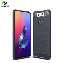 Case For Asus ZenFone 6 ZS630KL Cases Cover Carbon Fiber Shockproof Bumper Soft TPU Phone Zenfone 6Z 2019 Coque