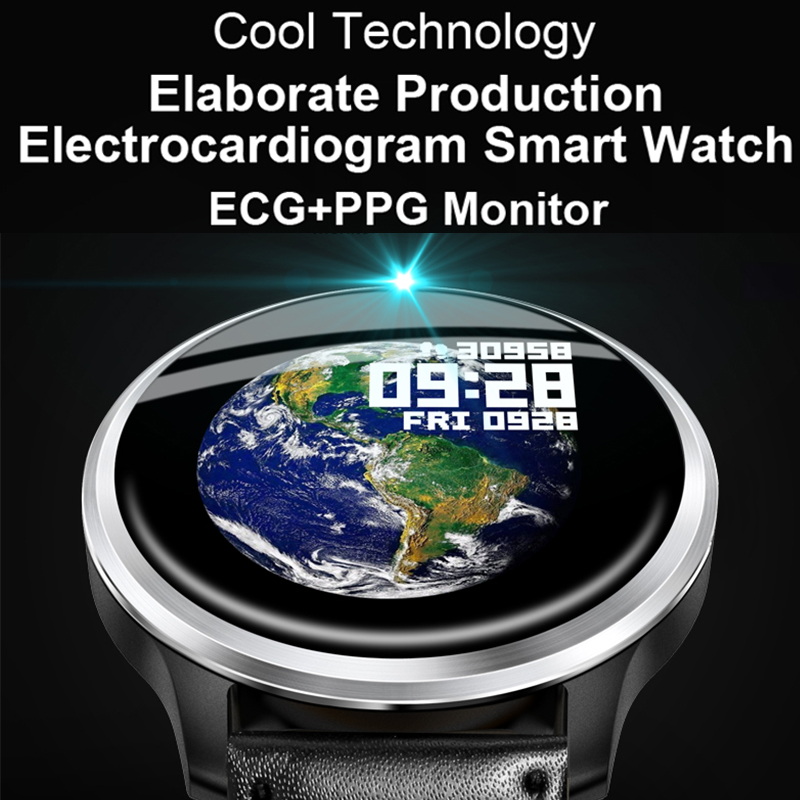 Smart wristband ECG blood pressure ppg heart rate monitor smartwatch ip68 200mah 1 3 inch steps