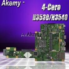 Akemy X553MA материнская плата для ноутбука ASUS X553MA X553M A553MA D553M F553MA K553M Тесты Оригинал материнская плата N3530/N3540 4-Core Процессор