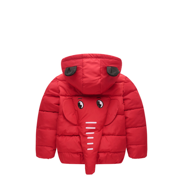 e1243fdd1037a Korean Kids Down Jacket Cut 3D Cartoon Elephant Toddler Children Winter Jacket  Coat Boy's Winter Cotton Padded Jacket Size 2-8