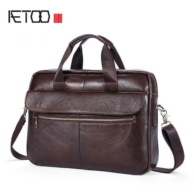 0c52222fc77e Aetoo сумки Для мужчин кожаная сумка Мужские Портфели для юристов Сумки на  плечо Пояса из натуральной