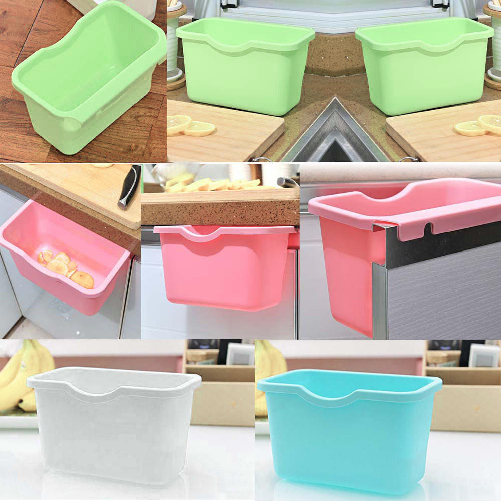 Garbage case Hanging Holder Cupboard Door Back Trash Rack Kitchen Cabinets Storage Towel Shelf Holders Storage#20
