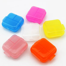 Portable Two layers candy color 6 Slots folding Jewelry candy box Storage Box Vitamin Medicine Pill Box Storage Case Container(China)