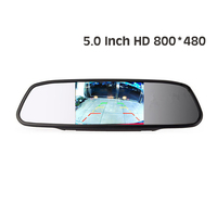 Free shipping HD 800*480 DC 12V car Monitor for DVD Camera VCR 5 Color TFT LCD Car Rearview Mirror Monitor