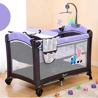 environmental protection baby multifunctional folding crib infant baby bed kids bed baby portable playpen