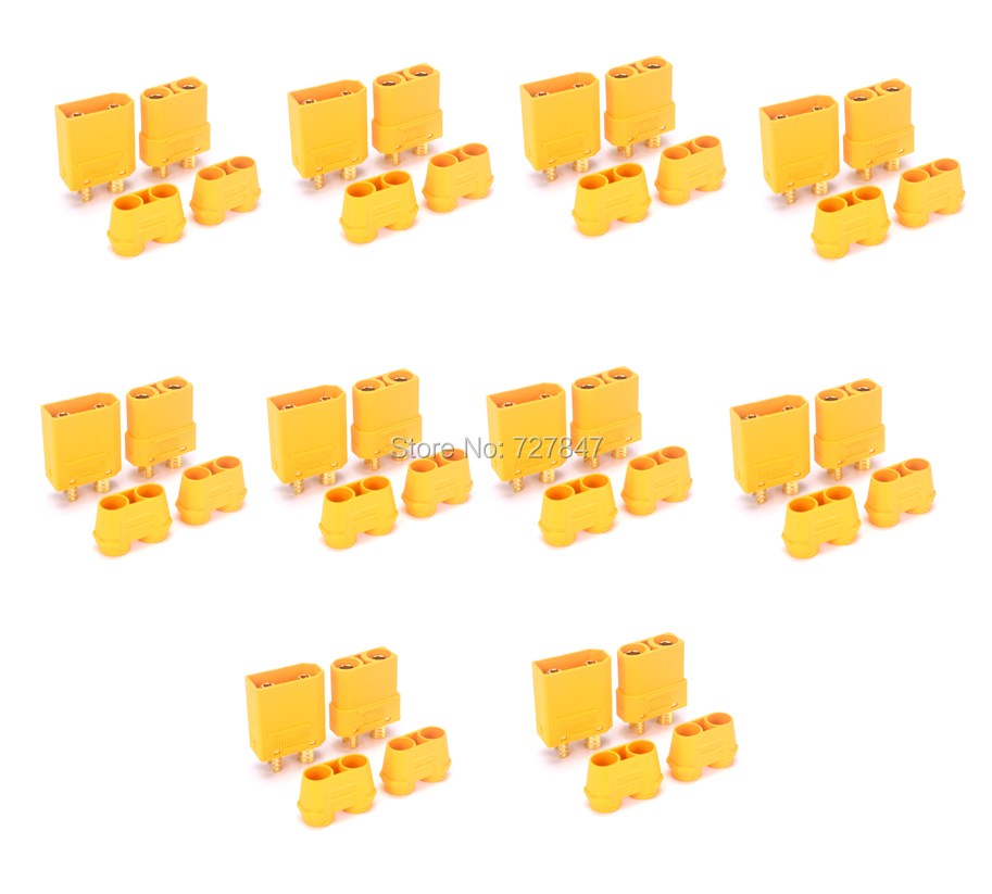 Amss Hot sale 10 Pairs Female Male XT90H XT90 Banana Fiche Prise Balle Connector for RC plug Battery