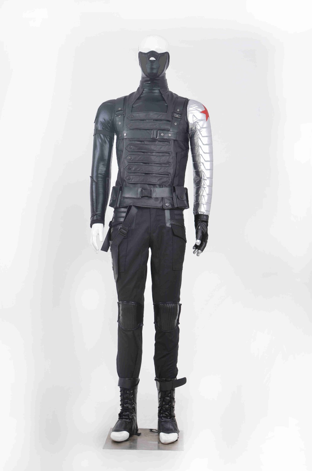 High Quality Captain America Costume The Winter Soldier Cosplay Costume Adult James Buchanan Barnes Cosplay Costume Halloween