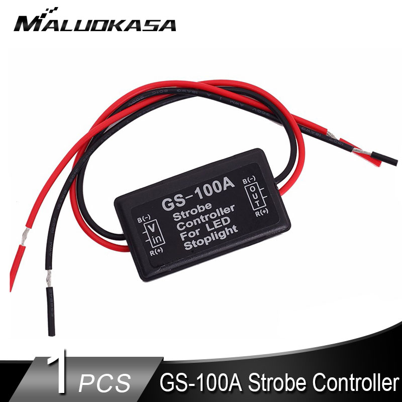 GS-100A Flash Strobe Controller 12V-24V For Motorcycle Stop Signal Flashing Back Rear Brake Stop Light Lamp Car Accessories