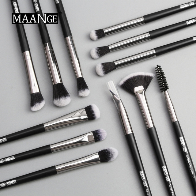 MAANGE new makeup brush 12 PCS professional mixed eye shadow eyebrow brush makeup beauty set 1