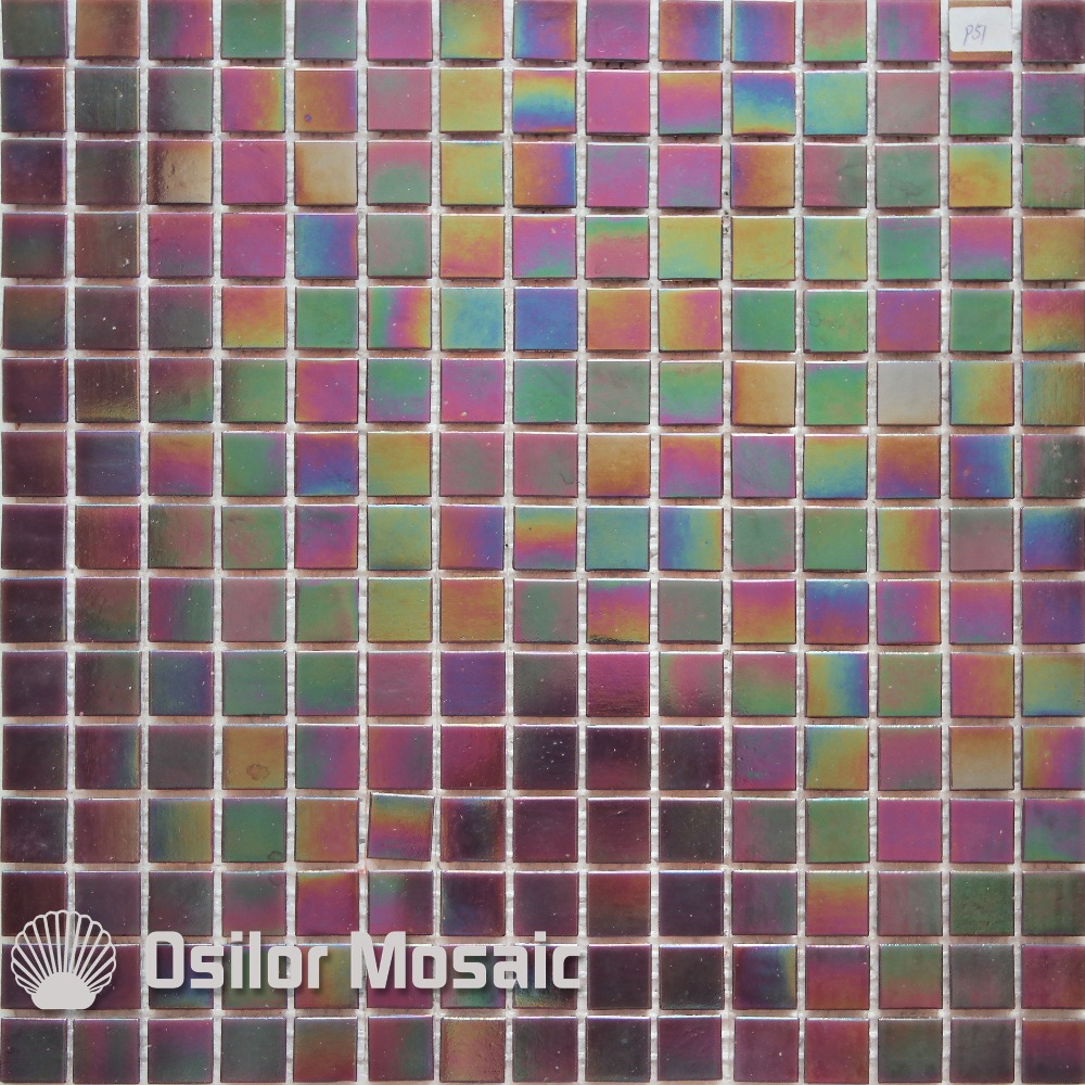 Free shipping iridescent glass mosaic tile for bathroom and kitchen ...