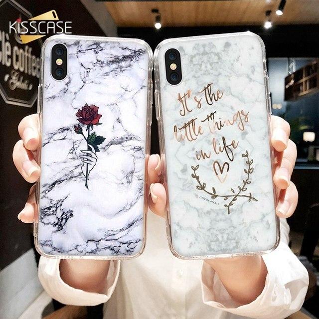 KISSCASE Мрамор чехол на айфон 7 8 6 6S Plus 5 5S SE X XS Max XR Роскошные Мягкие TPU Встроенная чехол для iPhone 7 8 6 6S Plus X XS Max XR 5 5S SE крышка Case