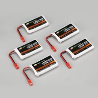 5pcs XF POWER 3.7V 1200mAh 25C Lipo Battery JST Plug with 6 port USB Charger For Syma X5HC X5HW Drone Quadcopter