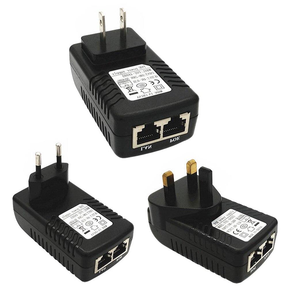 Security POE Power Supply Adapter 24V 1A POE Ethernet Adapter For IP Camera Network Cameras  LCC77 autoeye cctv camera power adapter dc12v 1a 2a 3a 5a ahd camera power supply eu us uk au plug