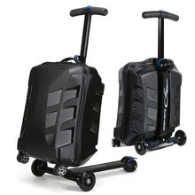 Cool Fashion Skateboard Luggage Bag Men Women Suitcase With Wheels Scooter Carry on Rolling Luggage Travel Trolley Box(China)