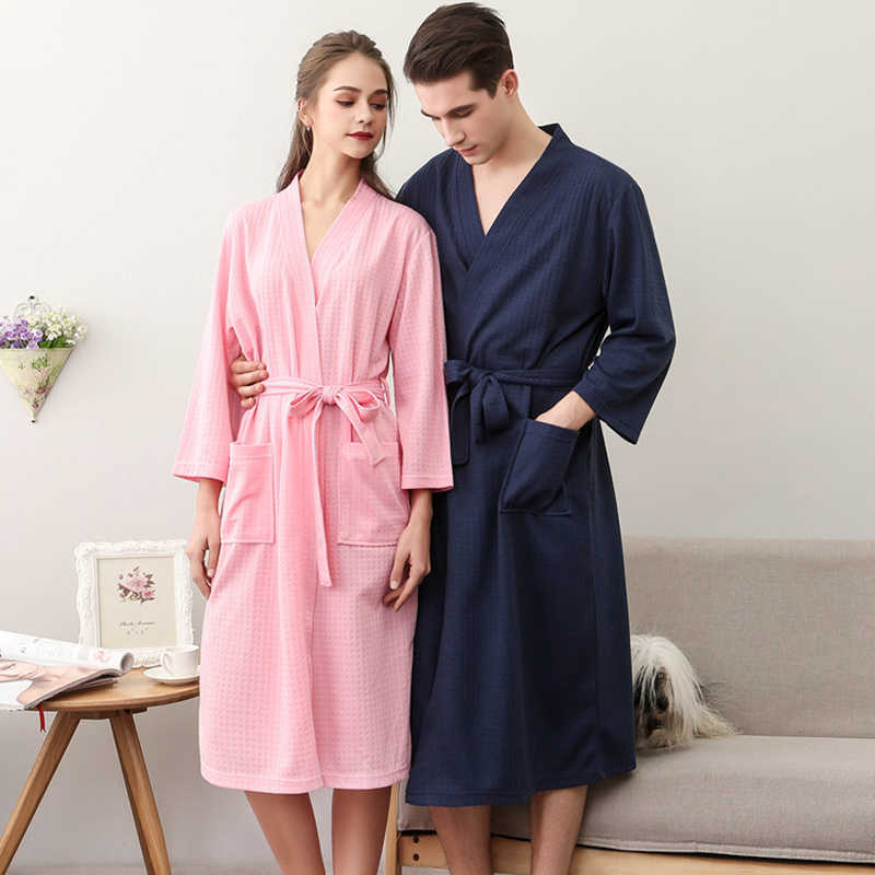 7f333b4bf9 Fashion Couple Lovers Women Adjustable Women Men Nightwear Kimono Female  Spring Sleepwear Bath Robes Sexy