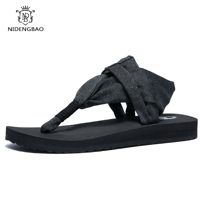 Women Sandals Gladiator Sandals Summer Shoes Female Flat sandalias mujer Rome Cross Tied Yoga Shoes Woman Flip Flops Size 44 in Women 39 s Sandals from Shoes