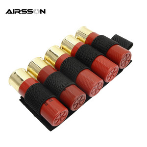 New 1000D Portable Shell Reload Strip Shotgun Bullet Pouch Ammo Carrier Airsoft Tactical Hunting Rifle 5 Shells Cartridge Holder