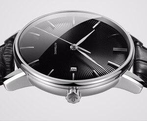 Image 3 - Reloj Mecánico Original xiaomi mijia TwentySeventeen con superficie de zafiro correa de cuero movimiento mecánico completamente automático
