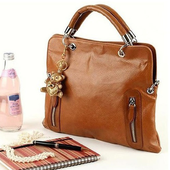 NEW Cool Retro Style Brown Ladies  Large Shoulder Handbag PU Leather Large Capacity Tote Casual Shopping Bag High Quality