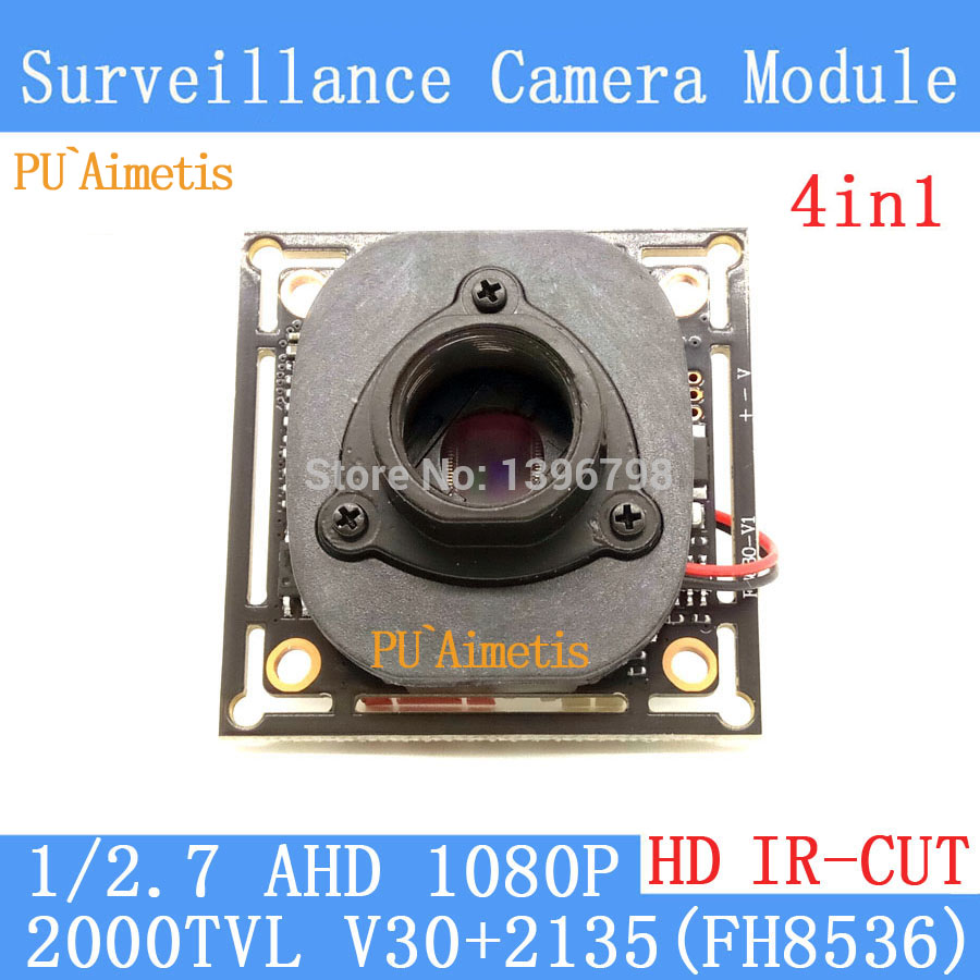 PU`Aimetis 4in1 2MP 1920*1080 AHD 1080P Camera Module Circuit Board, 1/2.7 2000TVL V30+2135 Board+HD IR-CUT dual-filter switch pu aimetis 4in1 1000tvl ahd cctv camera module 3mp 3 6mm lens pal or ntsc optional surveillance camera ir cut dual filter switch