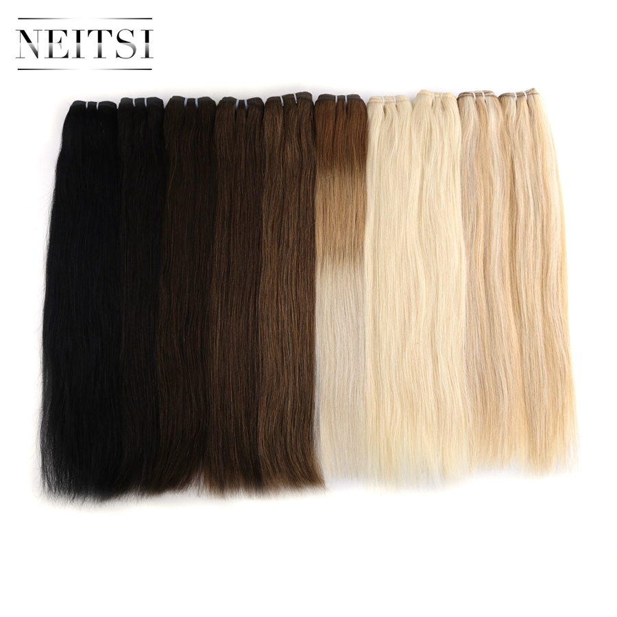 Neitsi Straight Machine Made Remy Human Hair Extensions 20