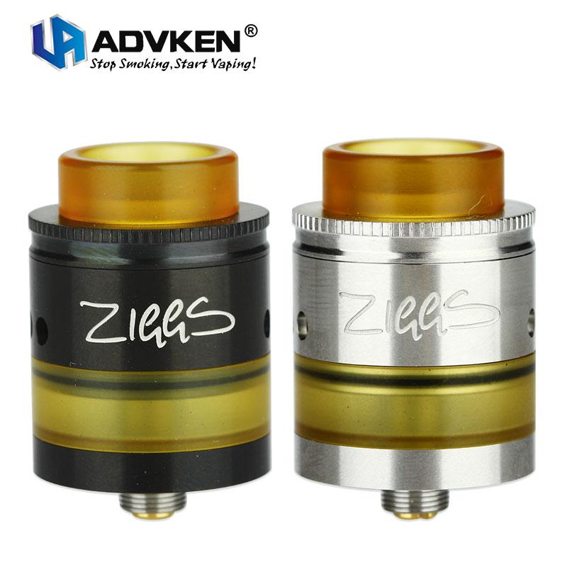 Originale Advken Ziggs RDTA 2.5 ml Capacità Serbatoio W/Lato Classico AFC System & Baionetta Dual Messaggi di Progettazione E-cig Vape Ziggs atomizzatore